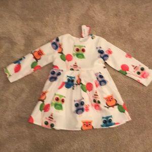 patpat Dresses - Adorable Owls long sleeve dress for toddler girl